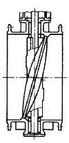 弁体傾斜形バタフライ弁(弁体傾斜形バタフライバルブ)