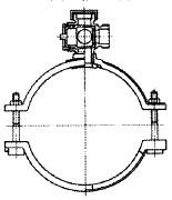 サドル付き分水栓