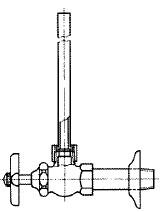 給水管付きアングル形止水栓