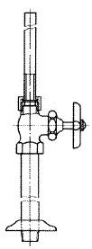 給水管付きレート形止水栓
