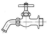 吐水口回転形横水栓