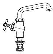 台付き自在水栓