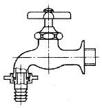 カップリング付き横水栓