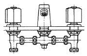 洗面器用コンビネーション湯水混合水栓