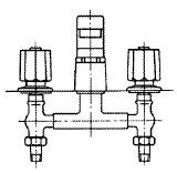 浴槽用コンビネーション湯水混合水栓